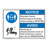 Notice/Maintain Social Distancing (FL1127-)