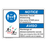 Notice/Maintain Social Distancing (FL1128-)