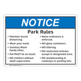 Notice/Park Area Rules (FL1130-)