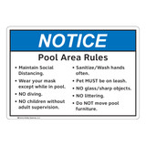 Notice/Pool Area Rules (FL1131-)
