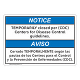 Notice/Temporarily Closed (FL1133-)