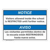 Notice/Visitors Allowed Inside (FL1138-)