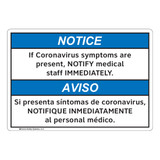 Notice/If Coronavirus Symptoms (FL1140-)