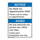 Notice/No Walk Ins (FL1144-)