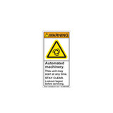 Warning/Automated Machinery (H6045-GCWVPJ)