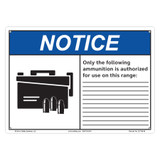 Notice/Only the Following Ammunition (C27109-06)