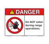 Danger/Do not Enter During Range (C27109-10)