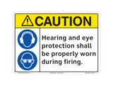 Caution/Hearing and Eye Protection (C27109-19)