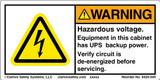 Warning/Hazardous Voltage (8420-049)