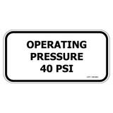 Operating Pressure 40 PSI (DPP-1465990)