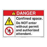 Danger/Confined Space Floor Marker (FM110-)