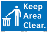 Keep Area Clear Floor Marker (FM156-)