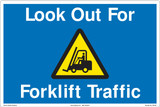 FM158- Look Out For Forklift Floor Marker