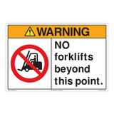 Warning/No Forklifts Floor Marker (FM168-)