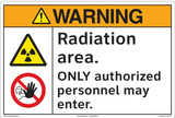 Warning/Radiation area. ONLY authorized personnel may enter.(FM178-)