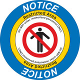 Notice/Restricted Area Floor Marker (FM105-)