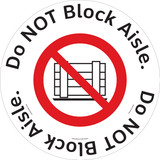 Do NOT Block Aisle Floor Maker (FM125-)