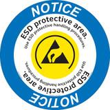 Notice/ESD Protective Area Floor Marker (FM131-)