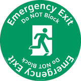 Emergency Exit/Do NOT Block Floor Marker (FM135-)
