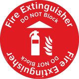 Fire Extinguisher/Do NOT Block Floor Marker (FM137-)