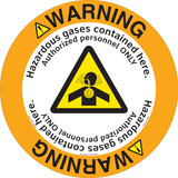 Warning/Hazardous Gases Floor Marker (FM149-)