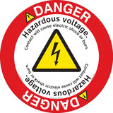 Danger/Hazardous Voltage Floor Marker (FM151-)