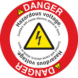 Danger/Hazardous Voltage Floor Marker (FM153-)