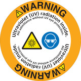 Warning/Ultraviolet (UV) radiation inside. NO admittance without UV eye protection.(FM177-)