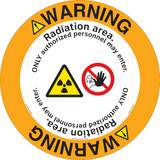 Warning/Radiation area. ONLY authorized personnel may enter.(FM179-)
