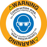 Warning/Construction area. Eye protection required in this area.(FM187-)