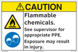 CAUTION/Flammable Chemicals (FM206-)