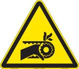 Hand entanglement/notched belt drive (FIS1013-)