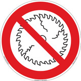 Do Not Operate With Damaged Blade (FIS6110-)