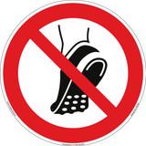 Do Not Wear Metal Studded Footwear (FIS7246-)