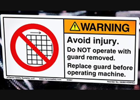 Effective Warning Labels Sturtevant Inc Story