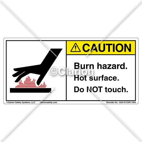 Caution/Burn Hazard Label (1024-01CHPJ Wht)
