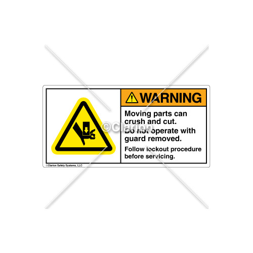 Warning/Moving Parts Can Crush Label (H1017-02WHTL)