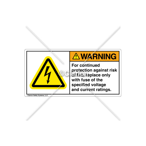 Warning/For Continued Protection Label (H6010-236WHPU)