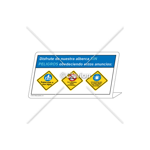Watch Your Children/No Diving/Non-Swimmers WearSign (WSS1750-37g-sm)
