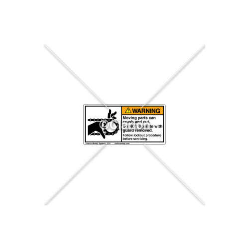 Warning/Moving Parts Can Crush Label (1012-02WHPL Wht)