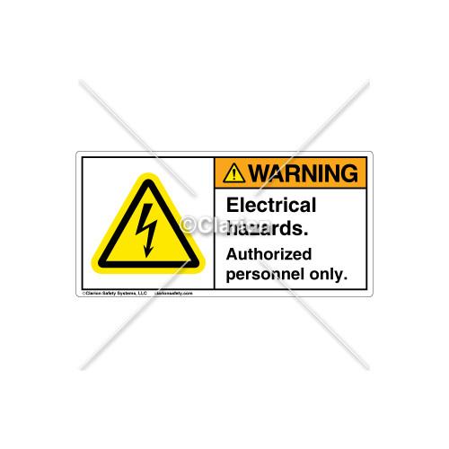 Warning/Electrical Hazards Label (H6010-JBWHRJ)