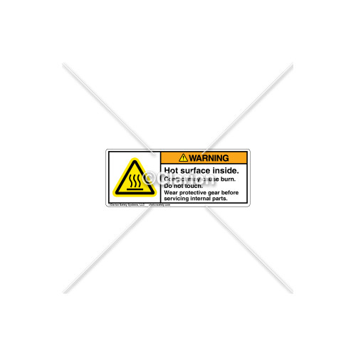 Warning/Hot Surface Inside Label (H6043-MZWHPI)