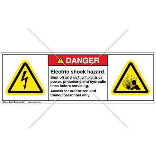 Danger/Electric Shock Hazard Label (H6010/4005-F61DHPS)