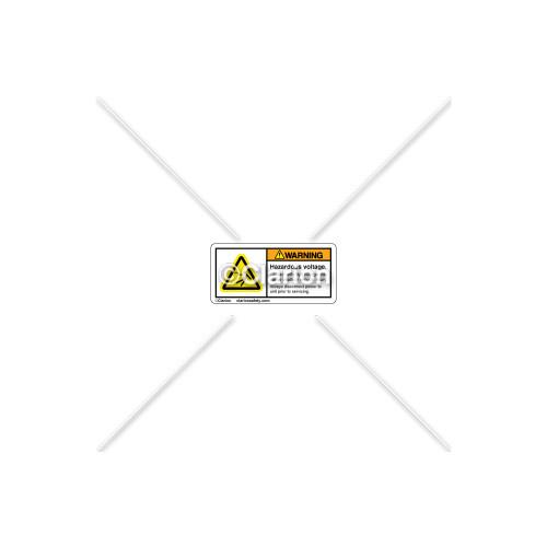 Warning/Hazardous Voltage Label (H5025-454WHP-19)