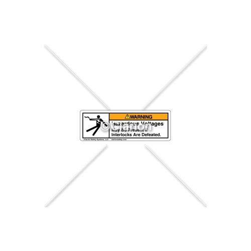 Warning/Hazardous Voltages Label (5025-J31WHP-33)