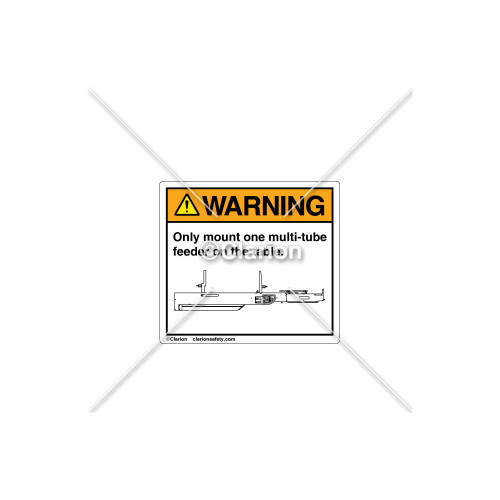 Warning/Only Mount One Label (52646201)