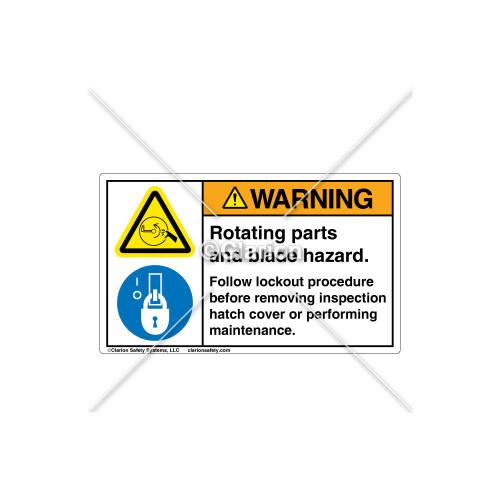 Warning/Rotating Parts Label (106297)