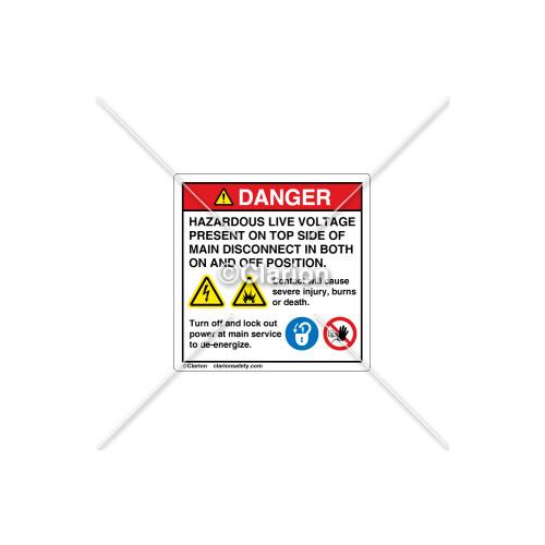 Danger/Hazardous Live Voltage Label (8356-01DHP-A)