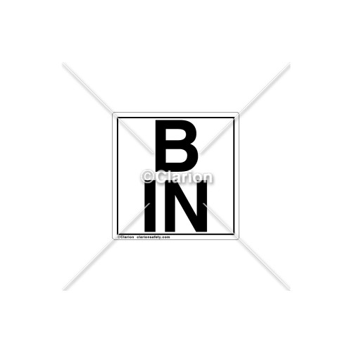 B IN Label (C8021-05)