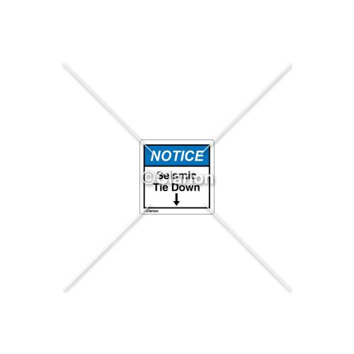 Notice/Seismic Tie Down Label (SR01S298)
